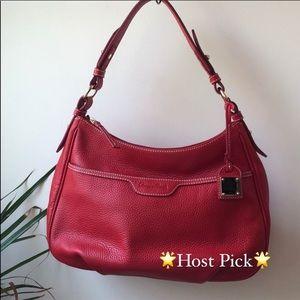 Dooney & Bourke Pebble Red Leather Collins Bag
